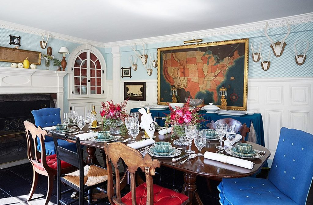 eclectic dining table